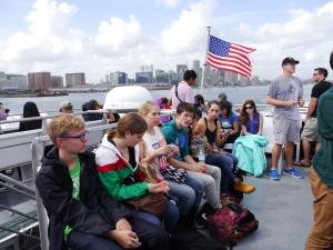 Auf dem Boot Zum Whalewatch